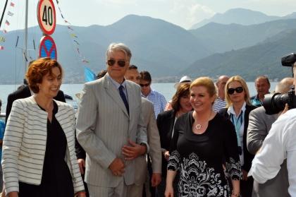 Predsjednica Kolinda Grabar-Kitarović u Boki, Mario Brguljan, predsjednik HGD lijevo