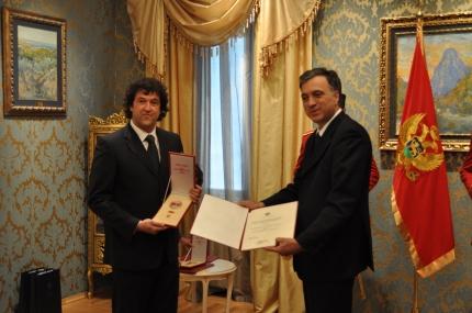 predsjednik CG dodijeljuje orden HGDCGF