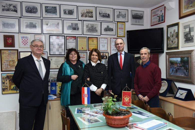 Delegacija Hrvatske matice u posjeti HGD CG